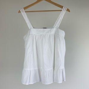 ASOS Womens Top Size US 8 White Cami Peplum Hem